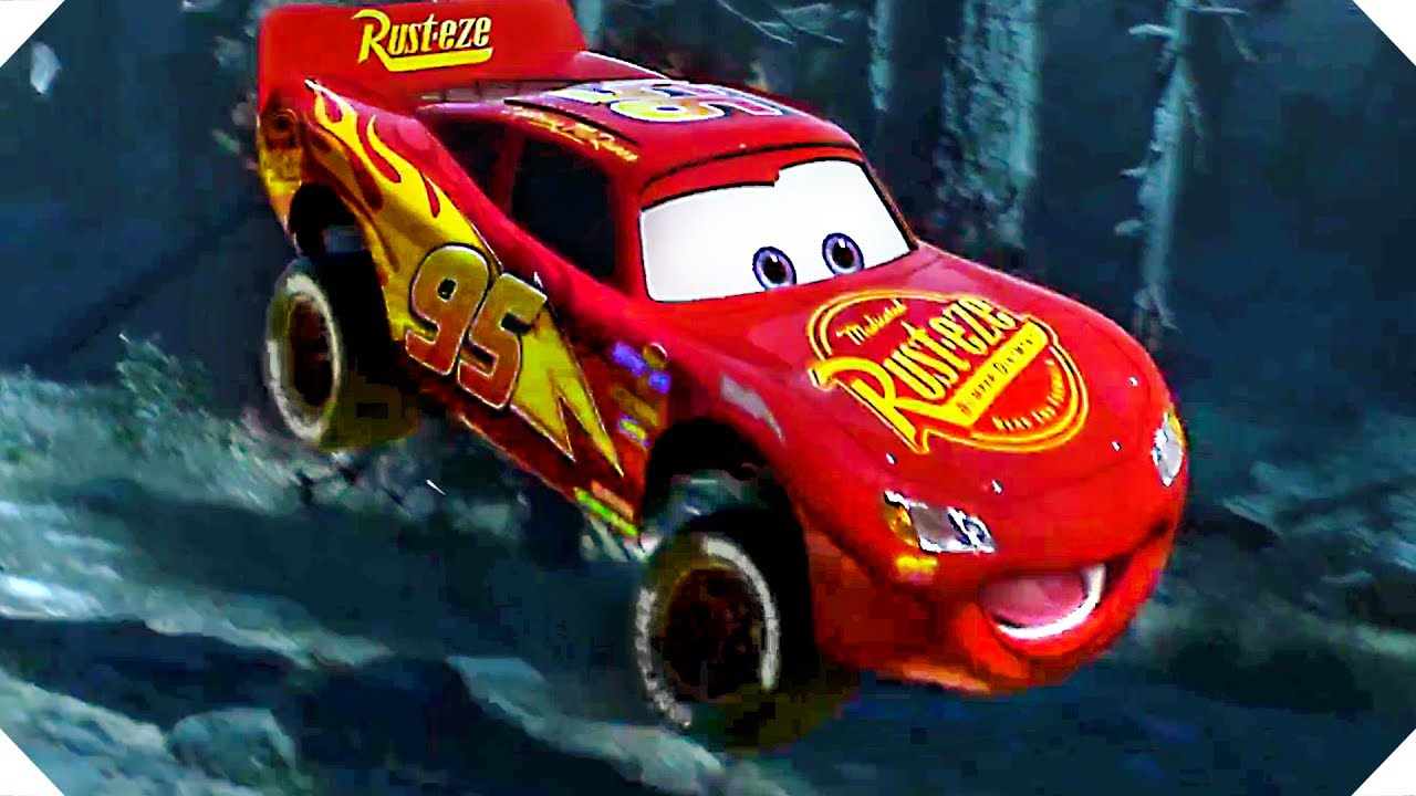 Jump Box For Cars >> Lightning McQueen BIG JUMP in the Forest ! - CARS 3 (Animation, 2017 - YouTube