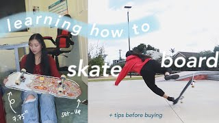Learning How To SKATEBOARD Tips First Drop-in Unboxing \u0026 Set-up
