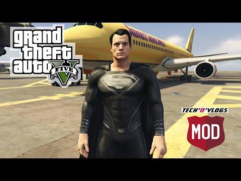 GTA 5 PC - Ultimate Superman Mod || How To Install Black Superman