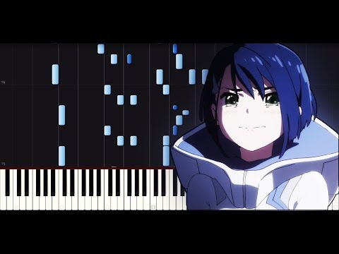 Darling in the FranXX ED3 (EP8-12) - Beautiful World [Piano tutorial + SHEETS] // Synthesia