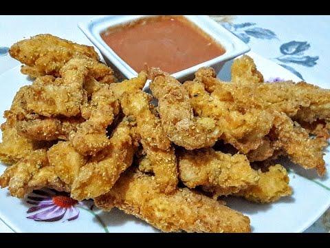 Extra Lezzetli Çıtır Tavuk Parçaları- KFC usulü tavuk- Chıcken Fingers - Ada sos tarifi ile birlikte