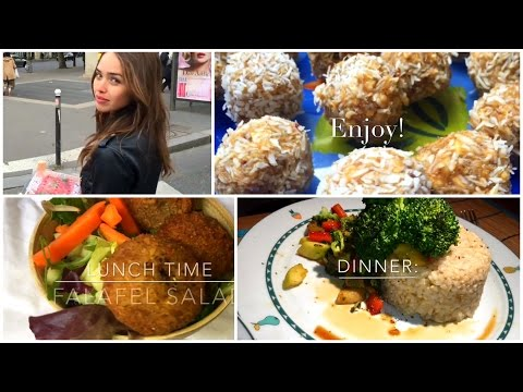 What I Ate & did Today •Bliss Balls Recipe [ VEGAN ] Farmers Market, Paris •healthy