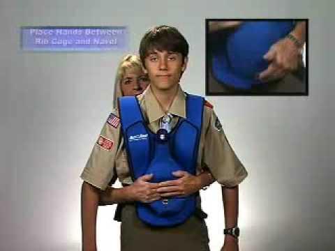 ActFast Choking rescue (Heimlich) Demonstration www.actfastmed.com