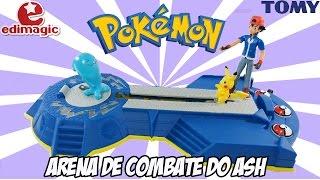 Pokémon - Arena de combate do Ash [Review] brinquedo pikachu desafio