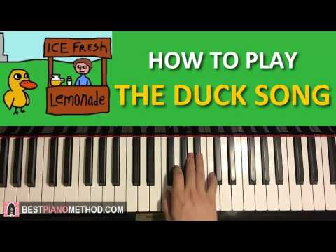 HOW TO PLAY - The Duck Song - by Bryan Oden (Piano Tutorial Lesson)