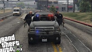 GTA 5 PC - Police MOD (Working Pullovers) ON Duty Officer
