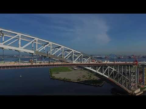 Drone video of Bayonne Bridge Project 1
