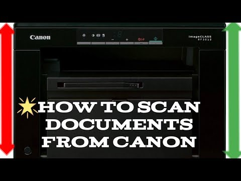 How To Scan Documents/Photo From Canon MF3010