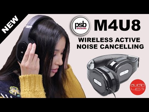 PSB M4U8 Wireless active noise cancelling HD headphones