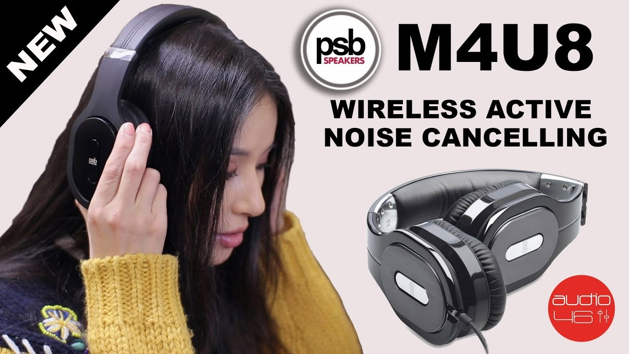 2c89c9ff652 PSB M4U8 Wireless active noise cancelling HD headphones - YouTube