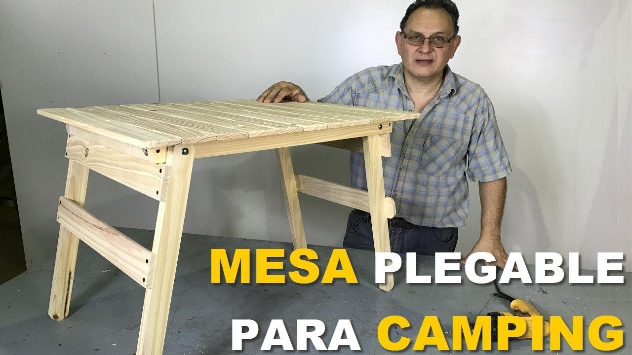 Fabricar Mesa Plegable Madera.Mesa Para Camping Con Patas Plegables Facil De Hacer Paso A Paso Tutorial De Carpinteria