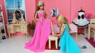 Muñeca Barbie Rutina matutina.Nuevo vestido para Barbie.