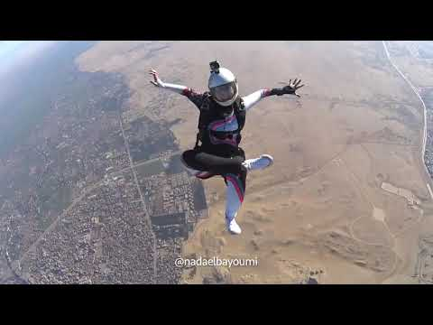 Eric Hunter - Woman Gracefully Skydives The Egyptian Sky