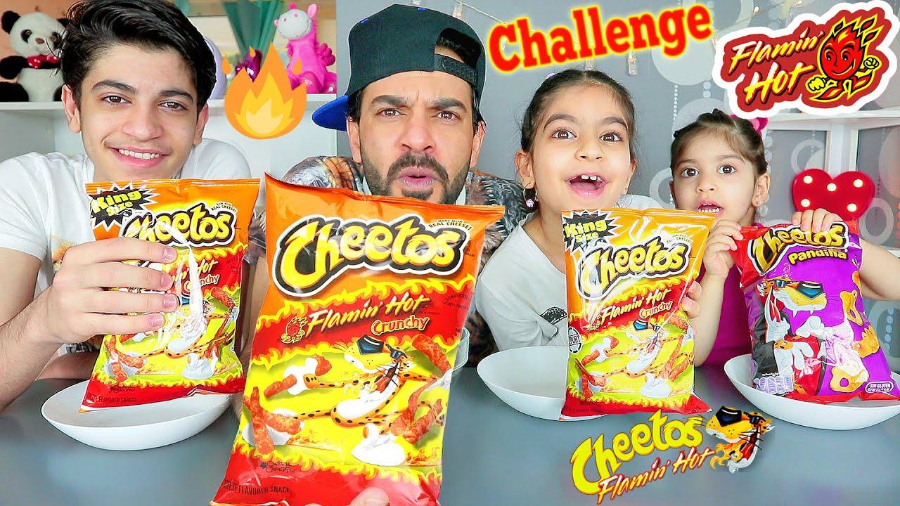 تحدي شيبس الشيتوس الحار الناري الكرنتشي ضد بابا امير بروز - Cheetos Flamin' Hot Crunchy  Challenge