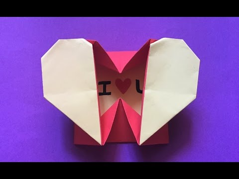 How to make an easy Origami heart box & Envelope paper/heart box origami tutorial