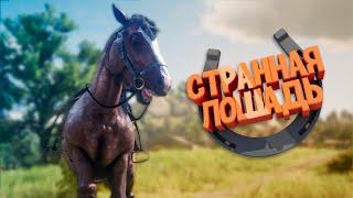 Red Dead Online - Странная лошадь (Смешные моменты, Монтаж, Приколы)