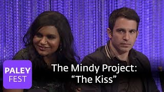 the mindy project mindy kaling chris messina on the kiss