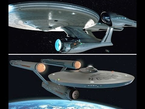 Original Star Trek Enterprise Vs 2009 Model Comparison