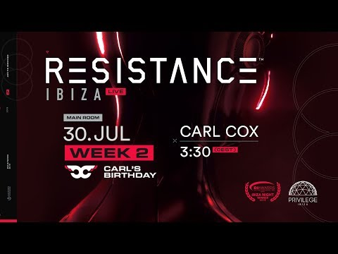 Live From Carl's Birthday At Resistance Ibiza!