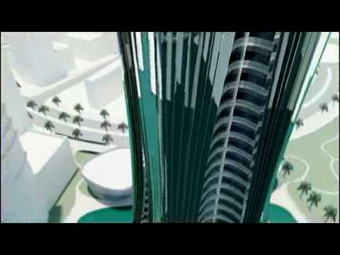snowflake tower abu dhabi by lava animation