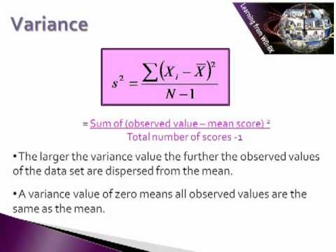 Basic Descriptive Statistics: Measures of Dispersion