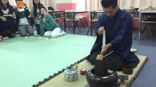 大阪YMCA国際専門学校でのお点前