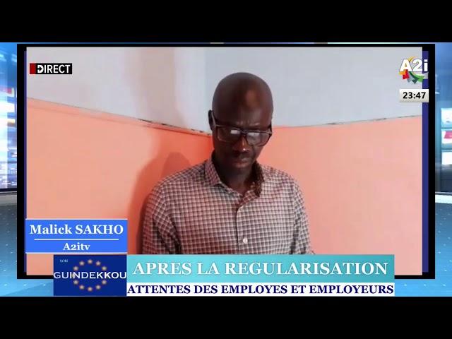 GUINDEKKOU du 13/09/2020 : L'attente des employeurs et employés aprés la Régularisation