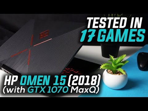 HP OMEN 15 2018 (i7 8750H + GTX 1070 Max Q) Tested in 17 Games