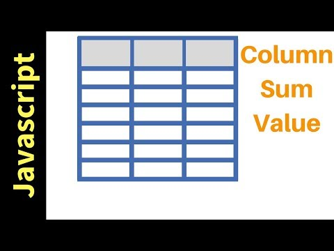 Javascript - How To Get HTML Table Column Values SUM In JS [ with source code ]