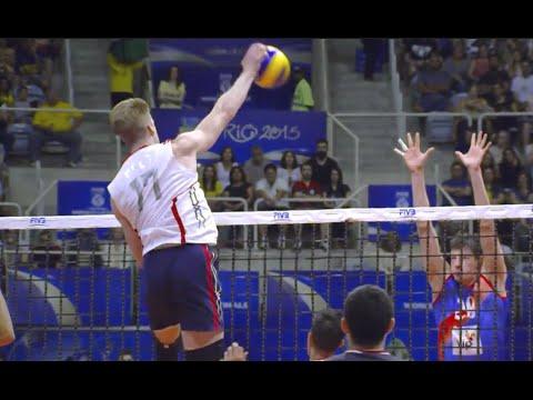 Max Holt - USA Vs Serbia FIVB 2015 World League Semifinal Volleyball Highlights