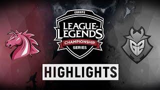 UOL vs. G2 - EU LCS Week 9 Day 1 Match Highlights (Spring 2018)