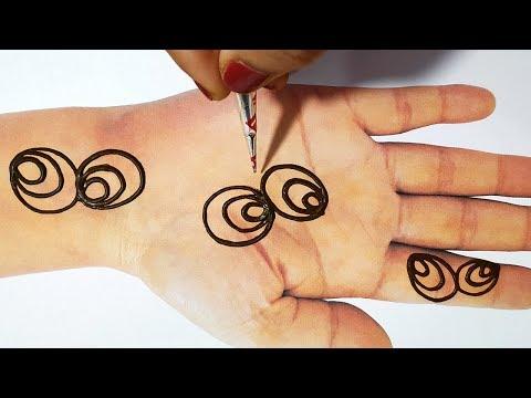 New Beautiful Mehndi Design - Easy Trick Mehndi Design - आसान अरेबिक मेहँदी लगाना सीखे