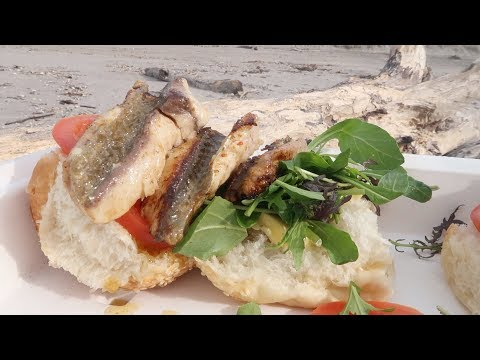 Catch and Cook Thornton Fish Burger on new stove