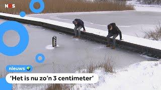 Wanneer kun je veilig het ijs op?