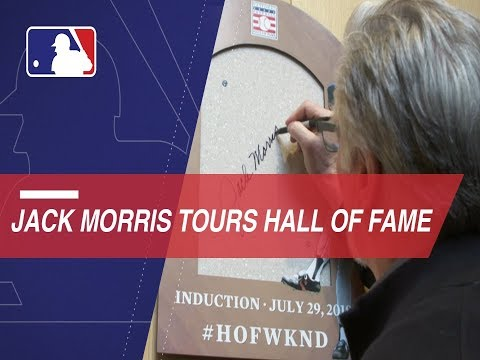 Jack Morris takes a tour of the Hall of Fame