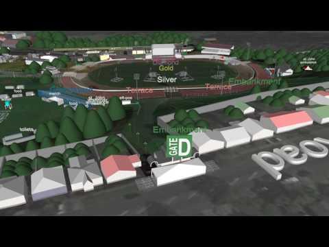Flyover Map - Guns N' Roses Concert at Western Springs Stadium - 4 Feb 17