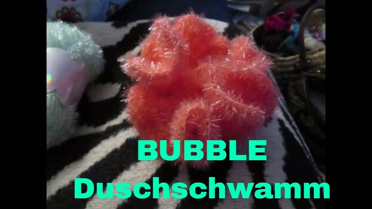 Bubble Schwamm Für Duschen Und Peeling Häkeln Youtube