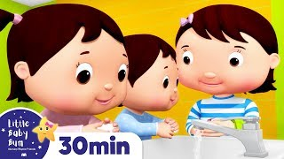 Wash Your Hands Song! | Nursery Rhymes & Kids Songs | Healthy Habits | Learn with Little Baby Bum