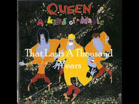 Queen - It's Kind Of Magic (Lyrics)