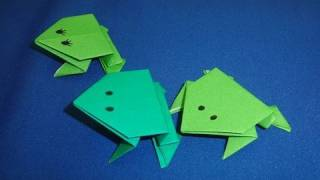 How to Make Action Origami Jumping Frogs