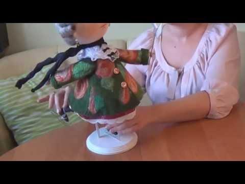 видео: Мастер класс по тектильной кукле со шплинтовым соединением головы