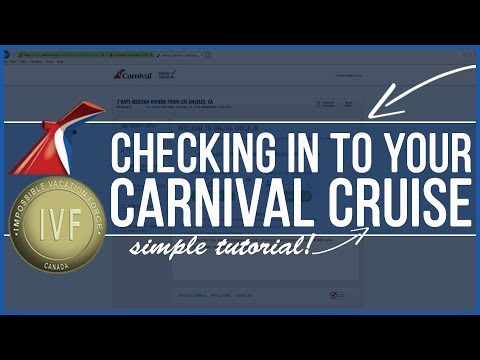 Carnival Cruise Online Check In Tutorial