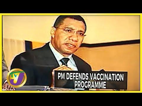 PM Andrew Holness Defends Jamaica's Vaccination Programme   TVJ News - Sept 24 2021