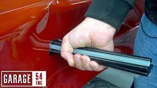 Dent repair: glue sticks, tİre tube, airbag module