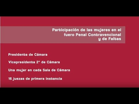 Las mujeres del fuero Penal Contravencional y de Faltas porteño