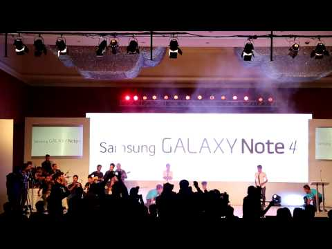 Samsung Galaxy Note 4+Gear S Official Launching Event Nepal 2014 Live Fusion Music & Dance   Part 1