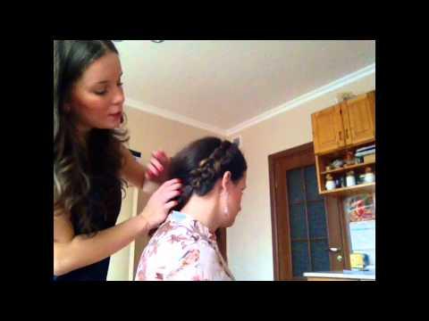 Как заплести косу ободком? прическа с косой.