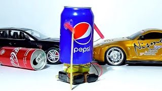 How To Make A Walking Robot With A Pepsi -  DIY Amazing