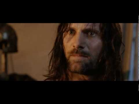 Aragorn receives Anduril, forged from the shards of Narsil