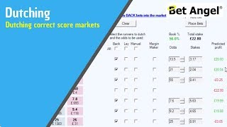 Betfair - Dutching correct score markets